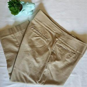 Women's Khaki Tan Capri Cropped Work Pants 14W